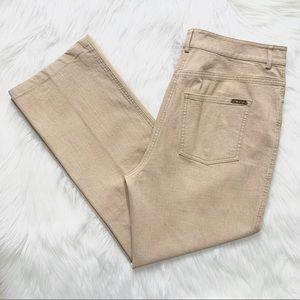 St. John Yellow Tag High Rise Khaki Colored Jeans